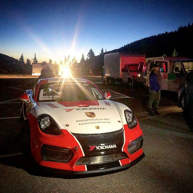 Regrann from @zwart -  First morning of coaching with the new GT4 Clubsport class, up on Pikes Peak, with @travispastrana and @cjwilsonracing  #porschecustomerracingna #pikespeakhillclimb #gt4clubsport @porschecustomerracingna #PorscheMotorsportPikesPeak #GT4CSPikesPeak #PMNA #PorscheDesign  #Porsche @porschedesignofficial #PorscheColoradoSprings #YokohamaTire #TeamYokohama @yokohamatire