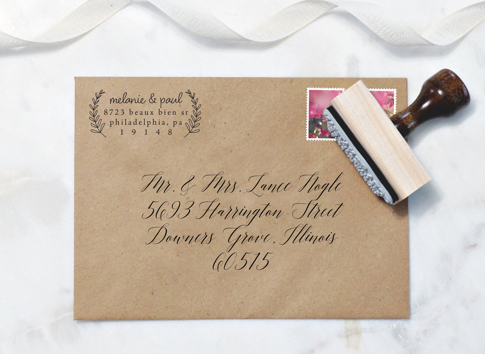 How To Address A Wedding Invitation East Grove Stamp Co