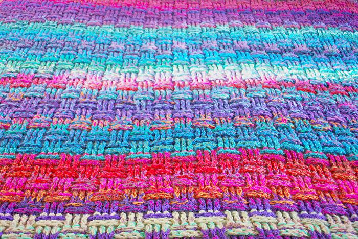 The Christmas Basket Weave Crochet Blanket Emma Leith