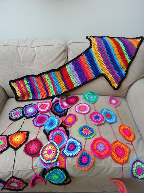 Crochet ready for another yarnbomb