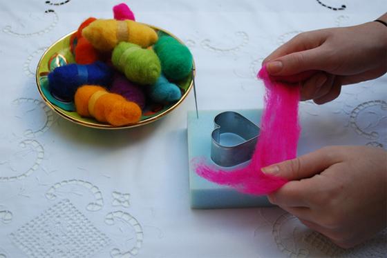 pulling wool