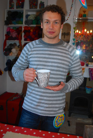 Dan with his mug