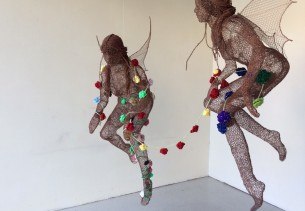 Crochet Rose Exhibition at Milsom Place The Octogan Bath