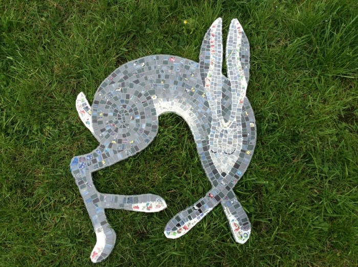 Mosaic Sleeping Hare