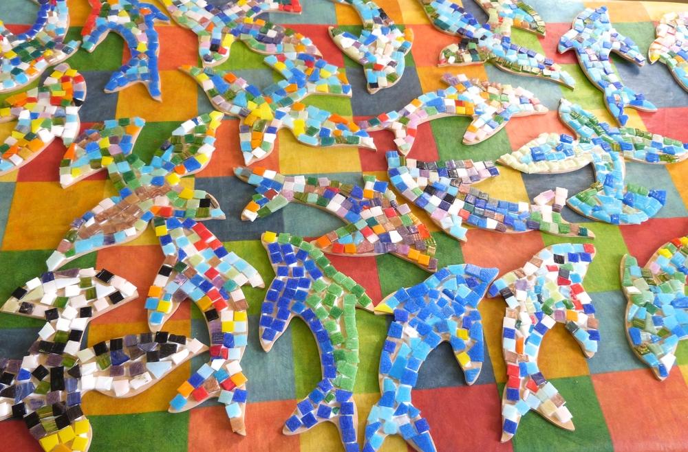 School mosaics air and sea