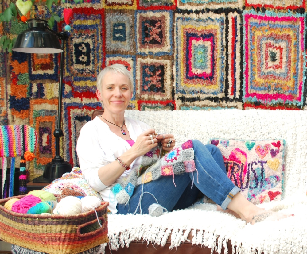 Emma Leith in crochet heaven