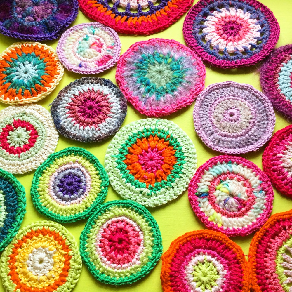Crochet mandalas by Emma Leith