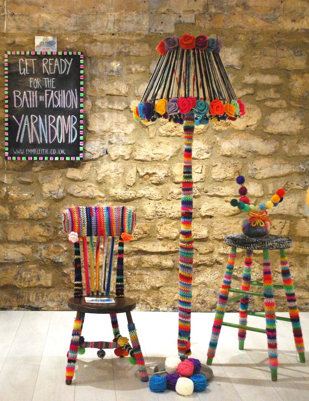 Yarn bomb home