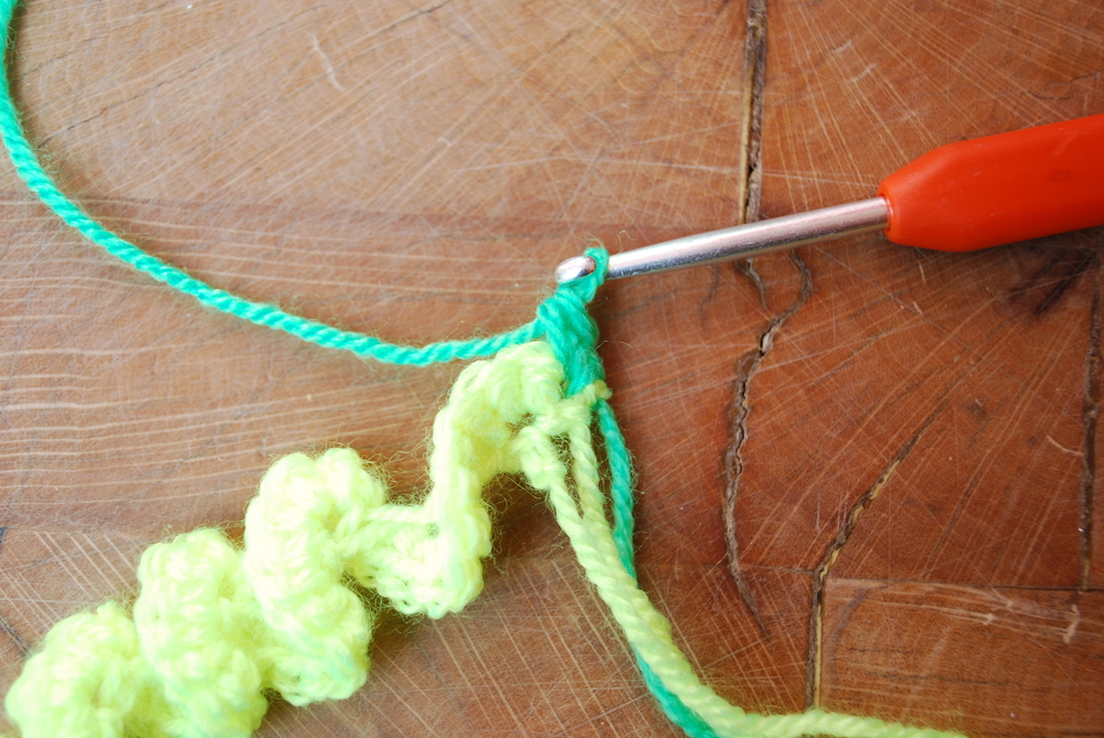 Work 2 double crochet into each stitch from row below.