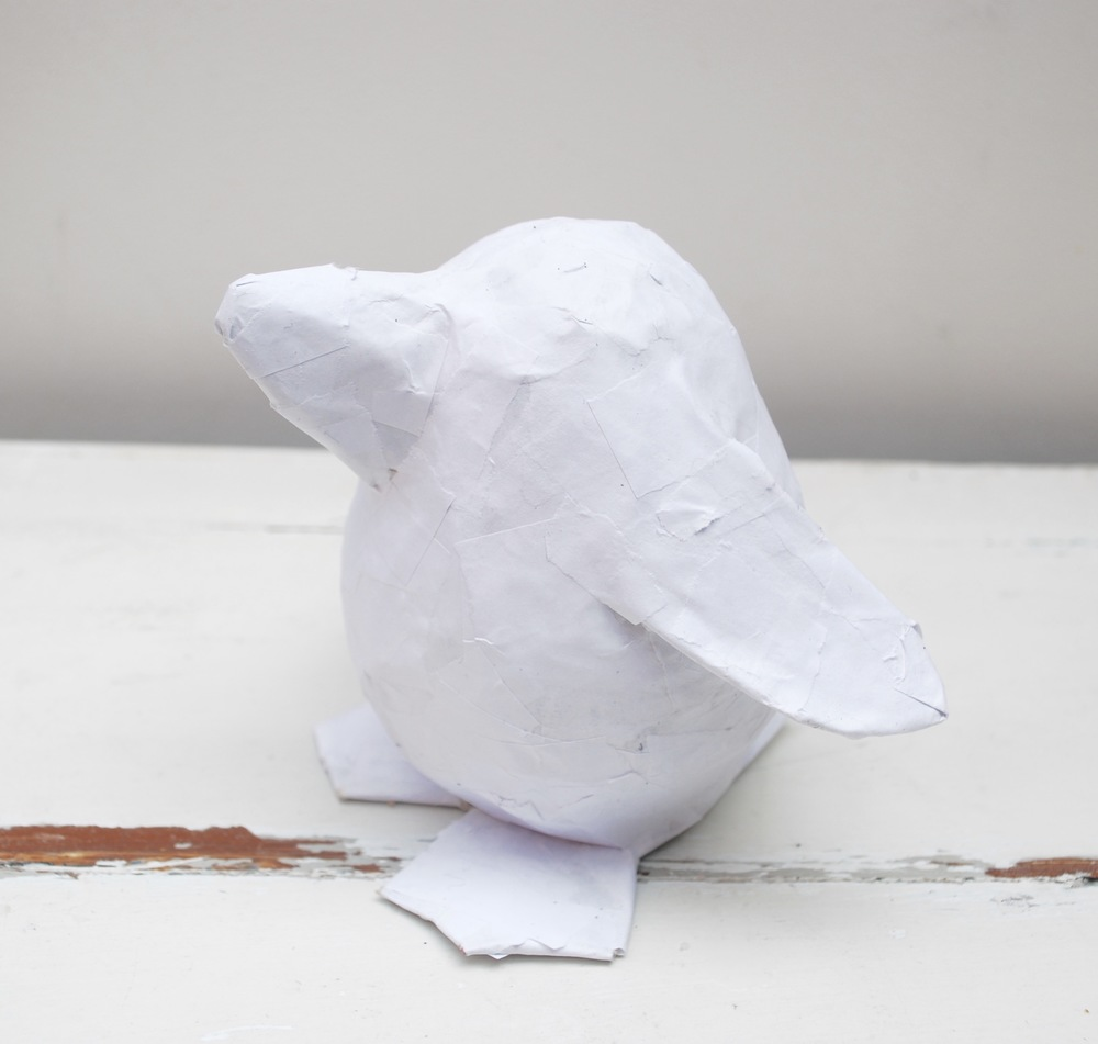 Paper pet tutorial - penguin - ready to paint