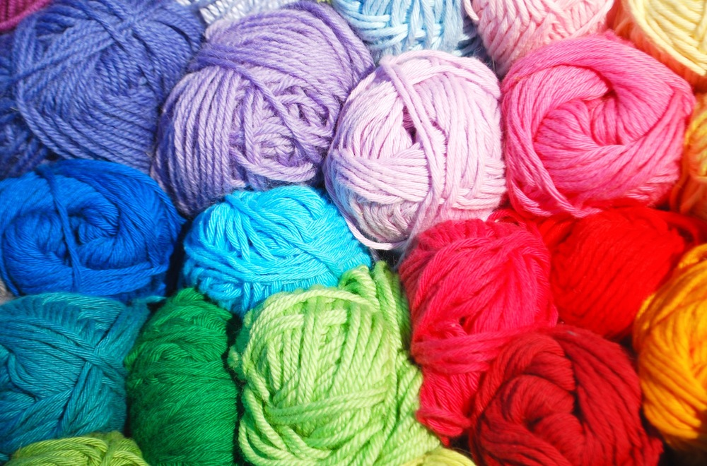 Rico Creative Cotton used for colourful crochet bunting