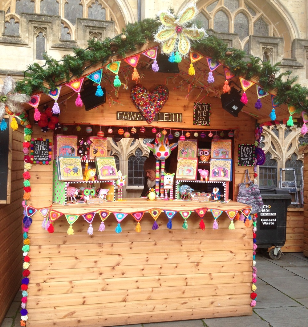 Emma Leith's Hut at Bath Christmas Market 2015
