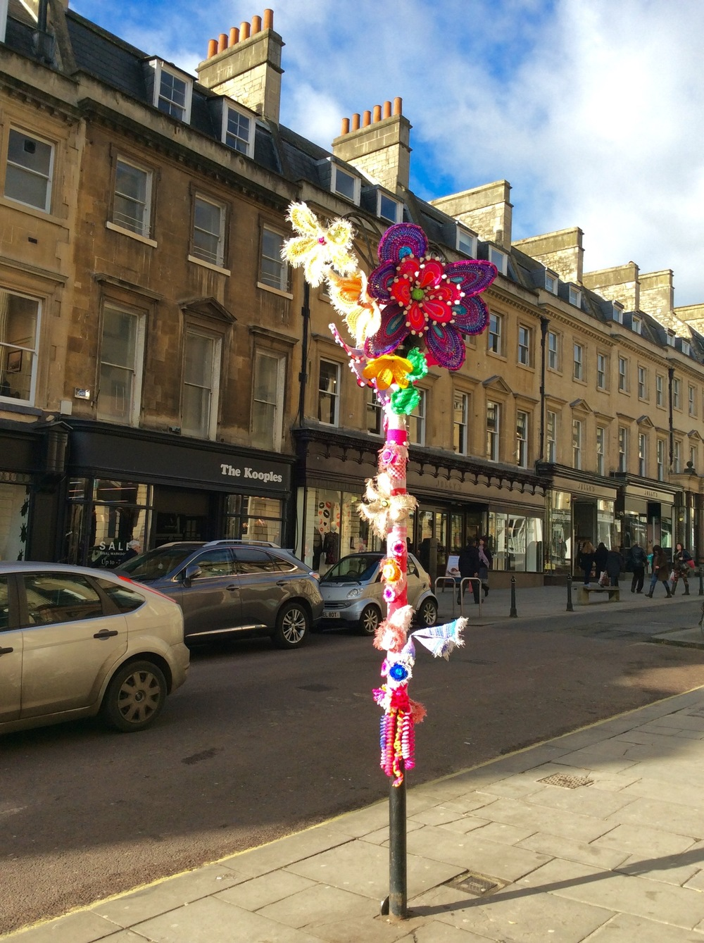 Bath in Fashion 2016 Yarn bomb preview