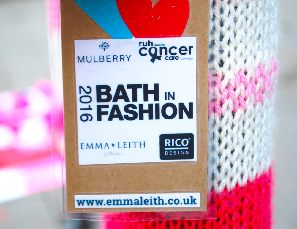 Bath in Fashion 2016 yarn bomb tag