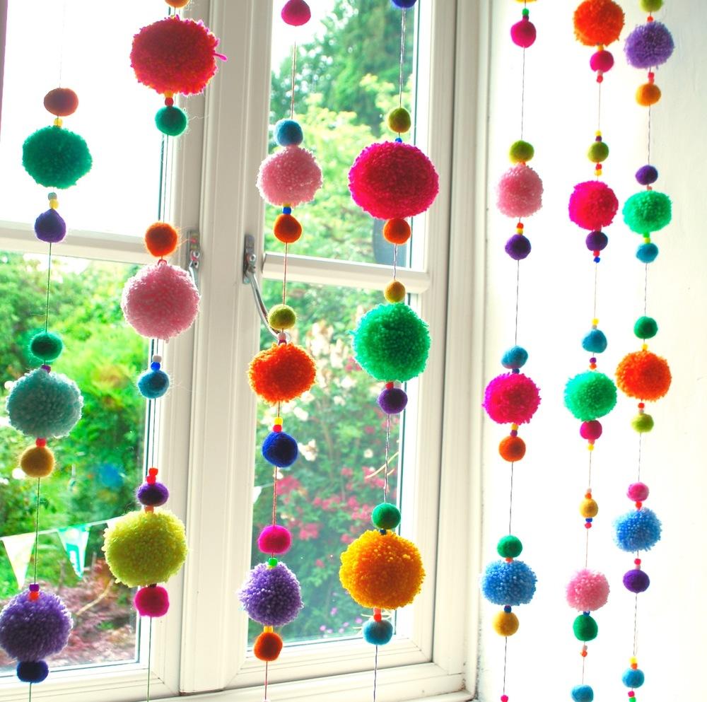 Exceptional Pom Pom Curtain Kit