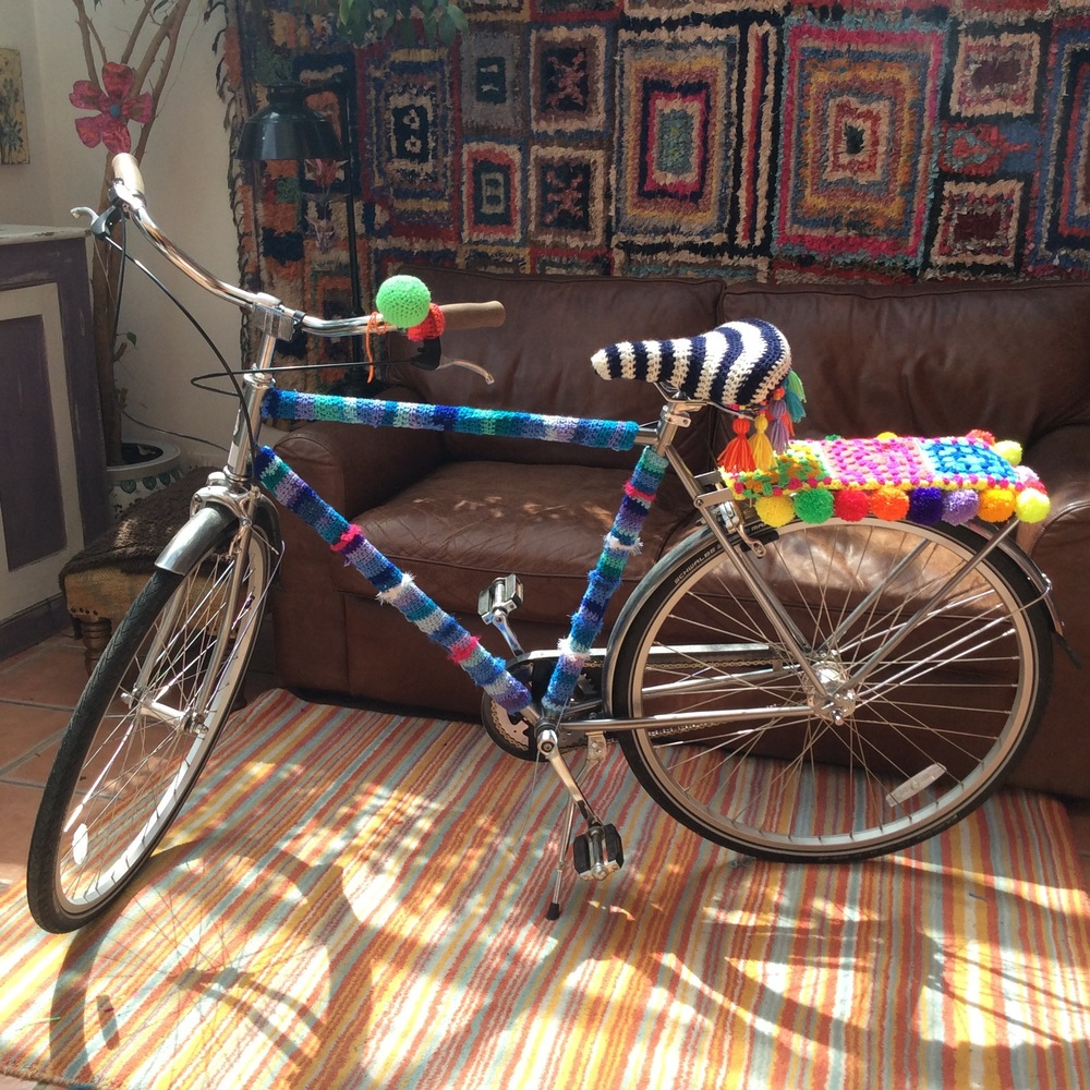 Yarn Bomb Bikes For Tour Of Britain 2016 Emma Leith