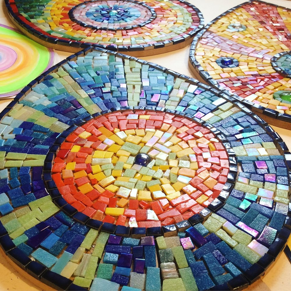 School mosaic for Springfield Community campus by Emma Leith