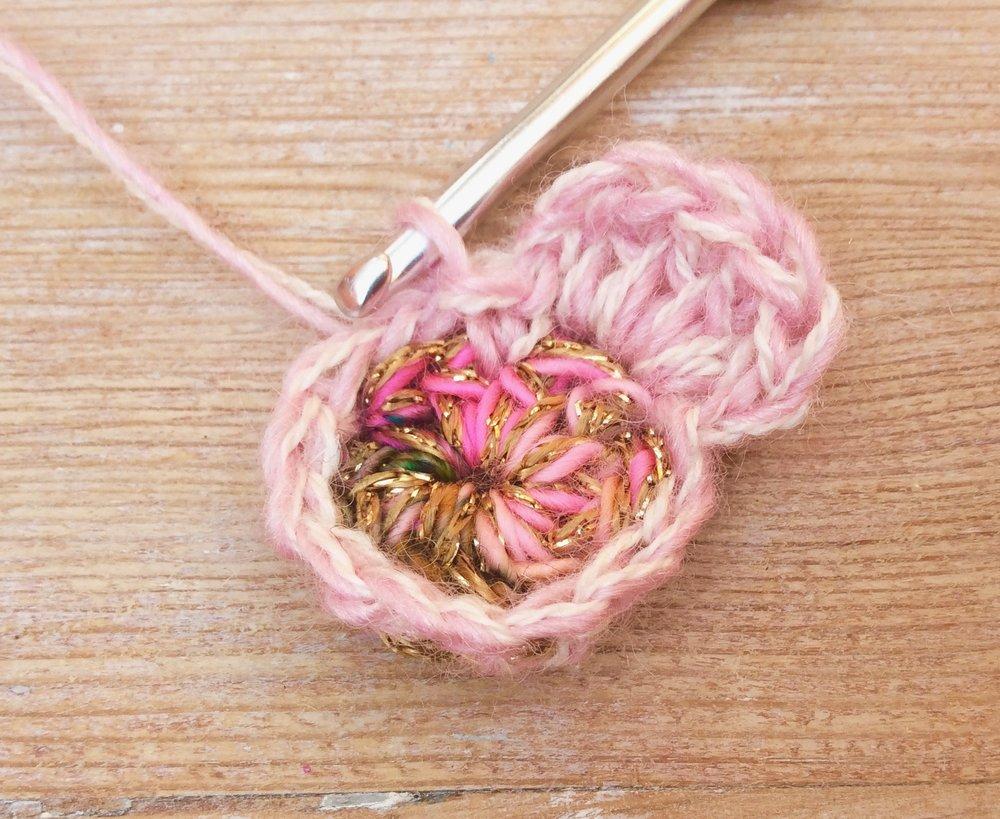 Crochet blossom flowers