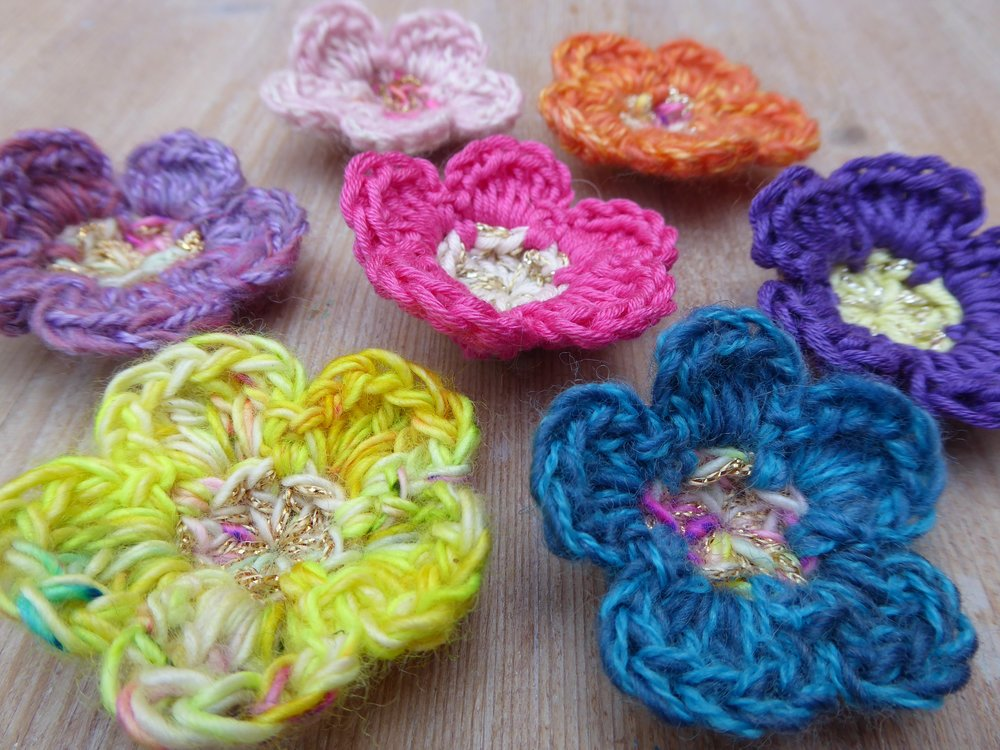 Blossom flowers crochet pattern