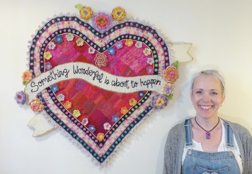 Read all about Emma's latest creation 'Something Wonderful' in  Simply Crochet  (issue 60) or see it in the flesh at Prema Arts where it is on display as part of an exhibition of her mosaic and crochet work.
