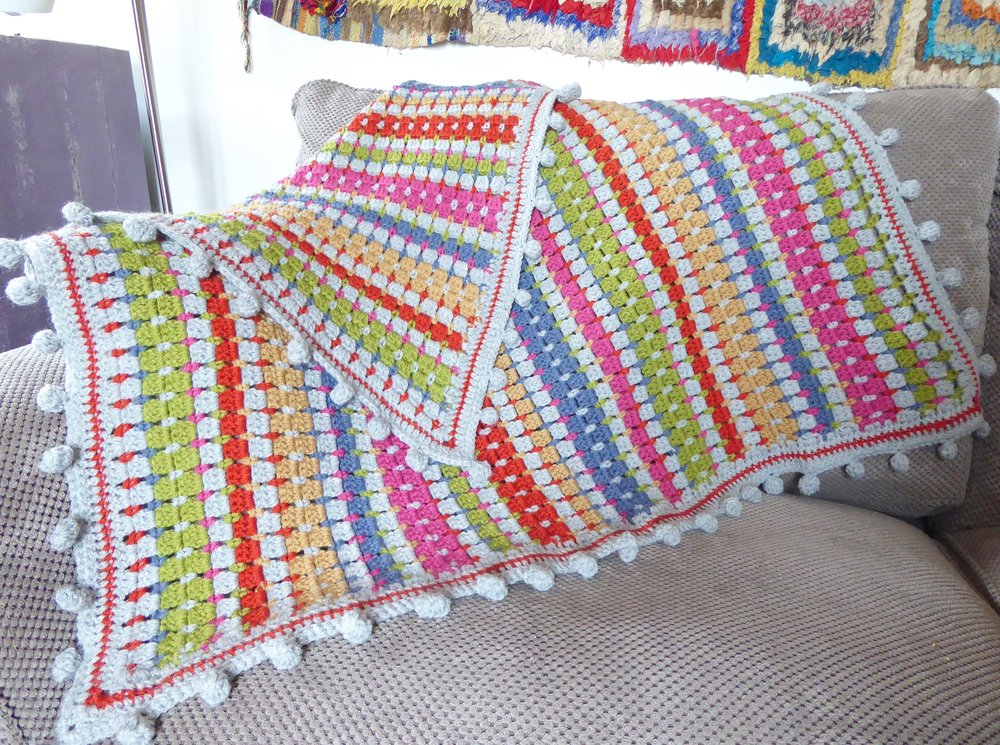 Block Stitch Crochet Lap Blanket by Emma Leith