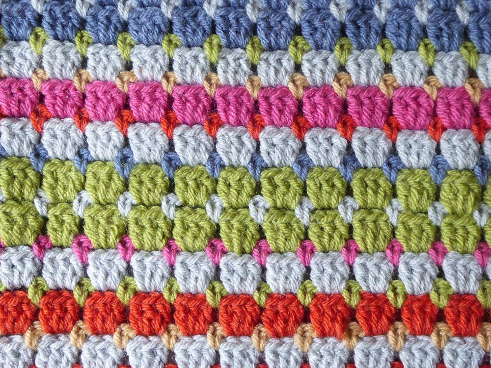 Block Stitch Lap Blanket Emma Leith