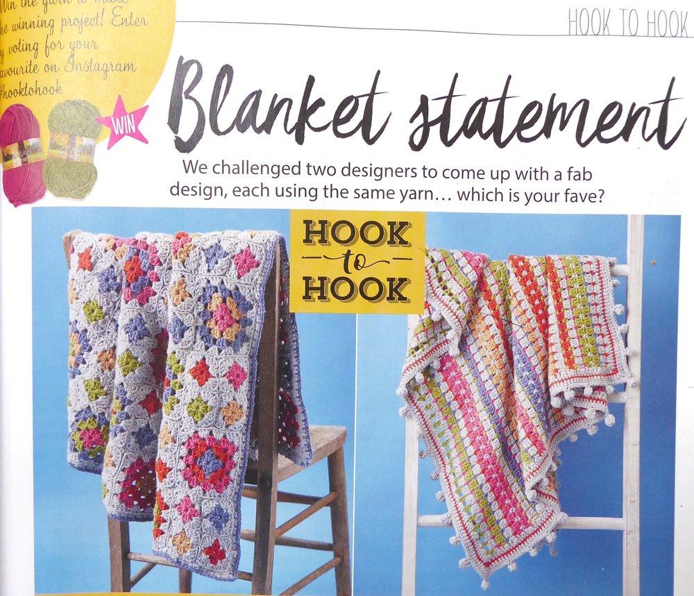 Hook to hook designer challenge lap blanket