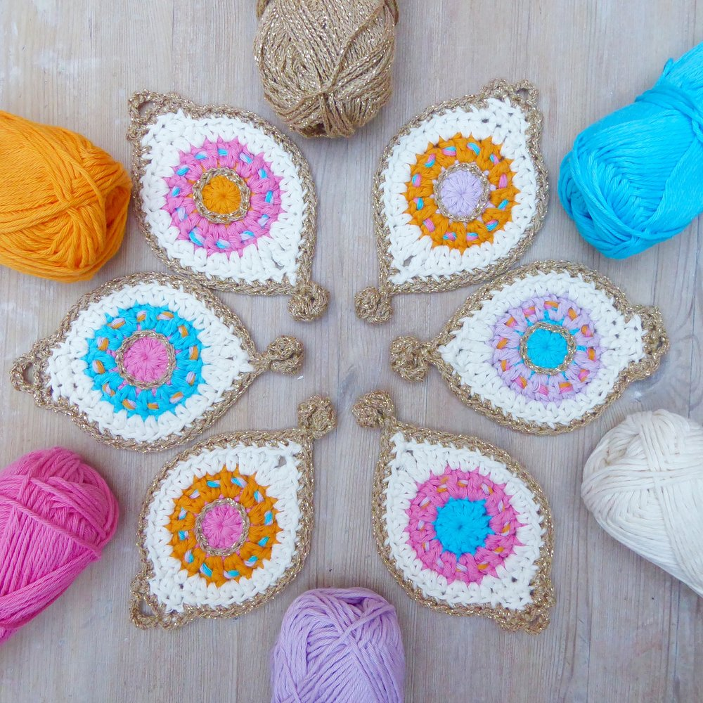 Crochet Bauble Bunting - you will need