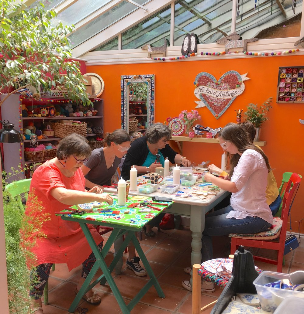mosaic workshop with Emma Leith