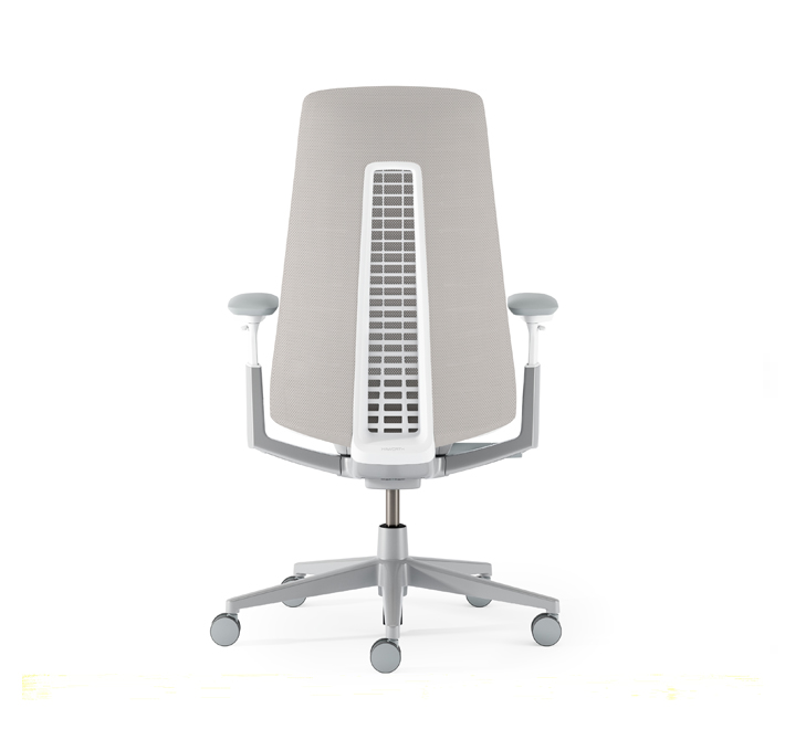 "My favorite chair is the  Fern  by Haworth. Having ""test driven"" several competing chairs, I can honesty say that Fern makes me sit well with little to no effort. It evenly distributes pressure and supports me in all the right places."