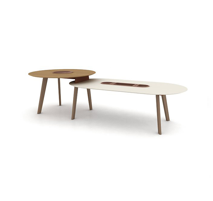 I love the design Haworth's  Immerse  tables. Their shapes are unique and their options make them versatile. With five different table designs: Shift, Overlap, Stack, Single and Ledge, they add visual interest to the office that is unseen from any other manufacturer.