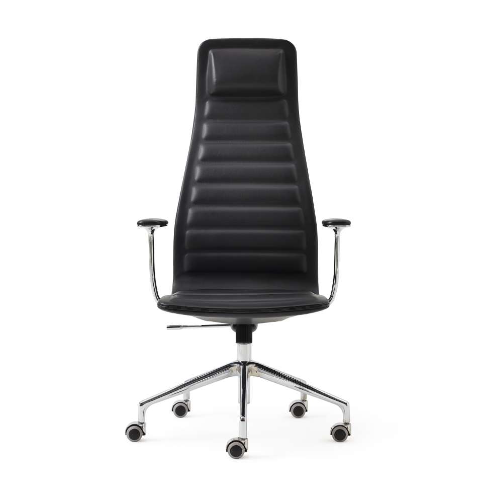 My favorite piece of furniture is Cappellini's  Lotus  conference chair for Haworth. The sleek lines and comfortable sit make it an ideal and impressive meeting chair.