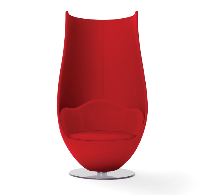 One of my favorite Haworth pieces is the  Tulip  chair. I love how it wraps around you and provides a cocoon-like atmosphere!