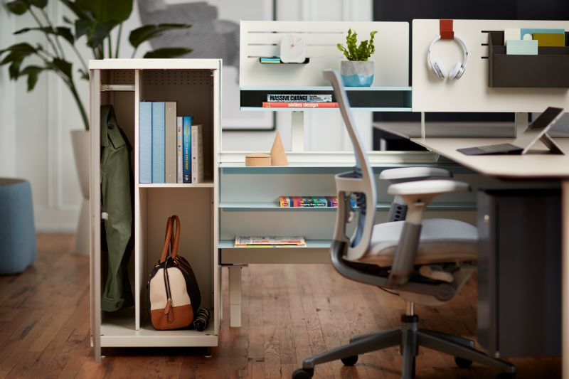 One of favorite products are  Active Components  by Haworth. They give people variety and choice in storage, organization, and a perceived privacy which helps them perform their best. The shapes, configurations, textures, and mix of materials help provide a residential appeal to any work environment.