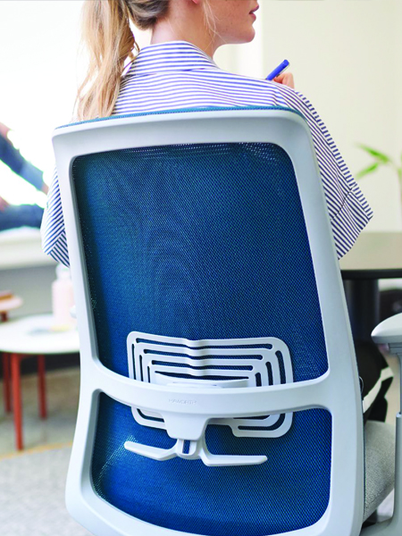 Shown with added lumbar support.