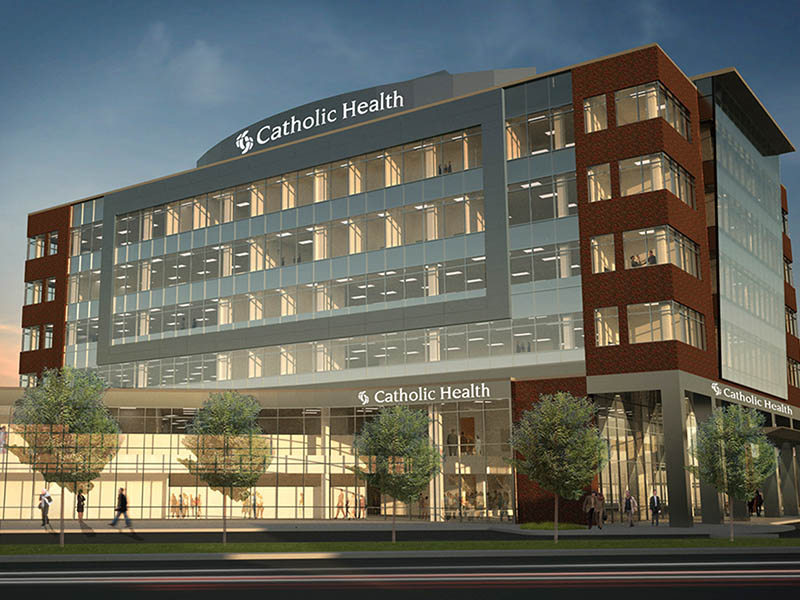 Catholic Health  - Location: Buffalo, NYClient: Uniland DevelopmentScopes: Procurement of flooring package throughout the facilityProject Size: 125,00 Square feetOpening: 2014