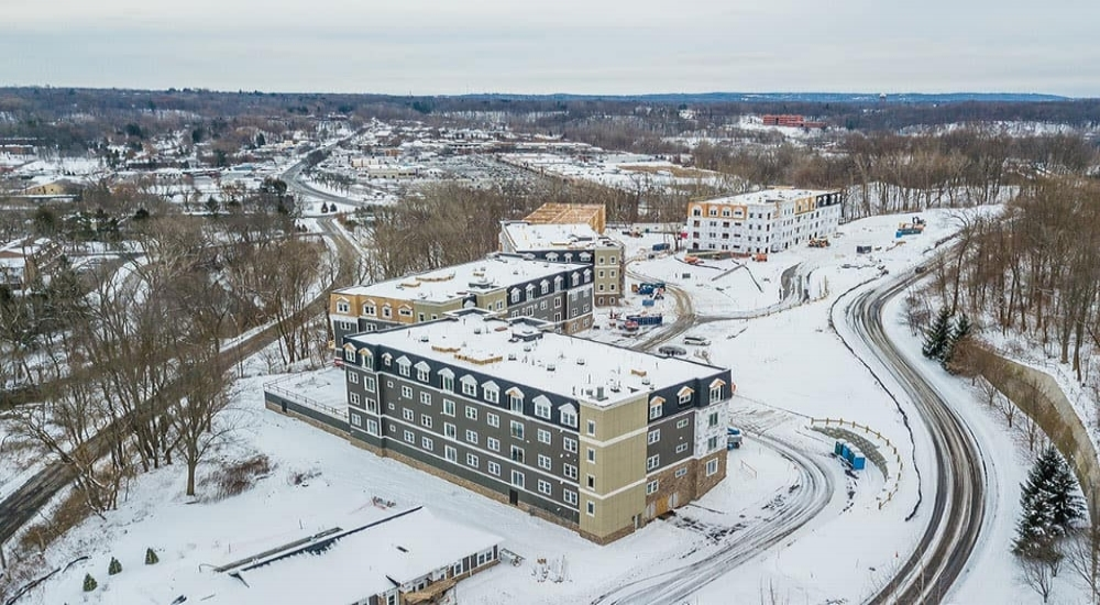 Ellison Heights - Location:Penfield, NYClient:Morgan CommunitiesProject Size:180 UnitsSquare Footage:235,000Scopes: Flooring.Opening: Summer 2018Segment: Luxury