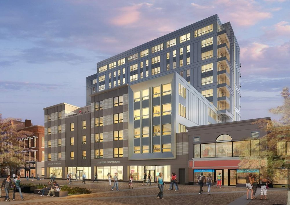 Harold Square  - Location: Ithaca, NYClient: McGuire DevelopmentProject Size: 108 UnitsSquare Footage: 175,000Scopes: Flooring, Furniture, Cabinetry, Counter tops and Appliances.Opening: Spring, 2019Segment: Luxury