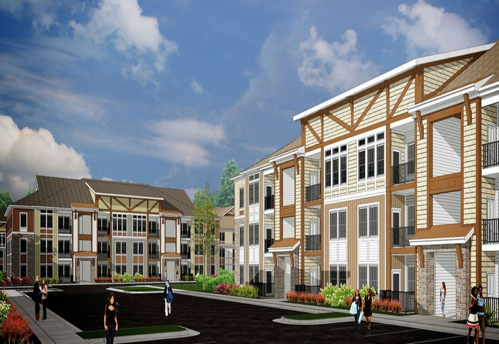 Parkstone at Knightdale - Location: Knightdale, NCClient:WidewatersProject Size: 13 Buildings, 350 UnitsSquare Footage: 475,000Scopes: Flooring, Lighting, Cabinets, Countertops, and Appliances.Opening:Summer, 2018 for Phase 1Segment: Luxury