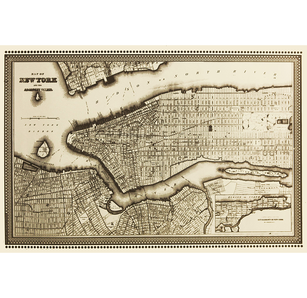 Decorative Sheet by Charles Lahti Map of New York 188 Galerie
