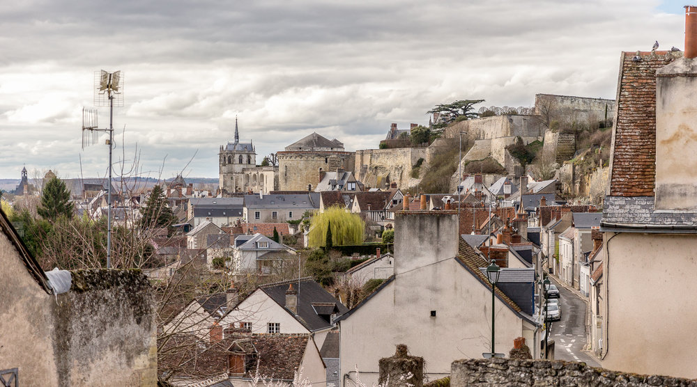 Amboise rooftops and Royal Château