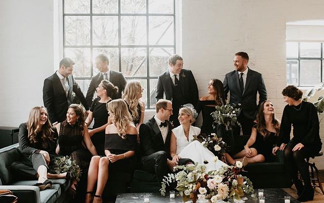 a little throw back to that time we got married with the greatest group of friends anyone could ask for 💕 . . . Image: @scarletoneill
