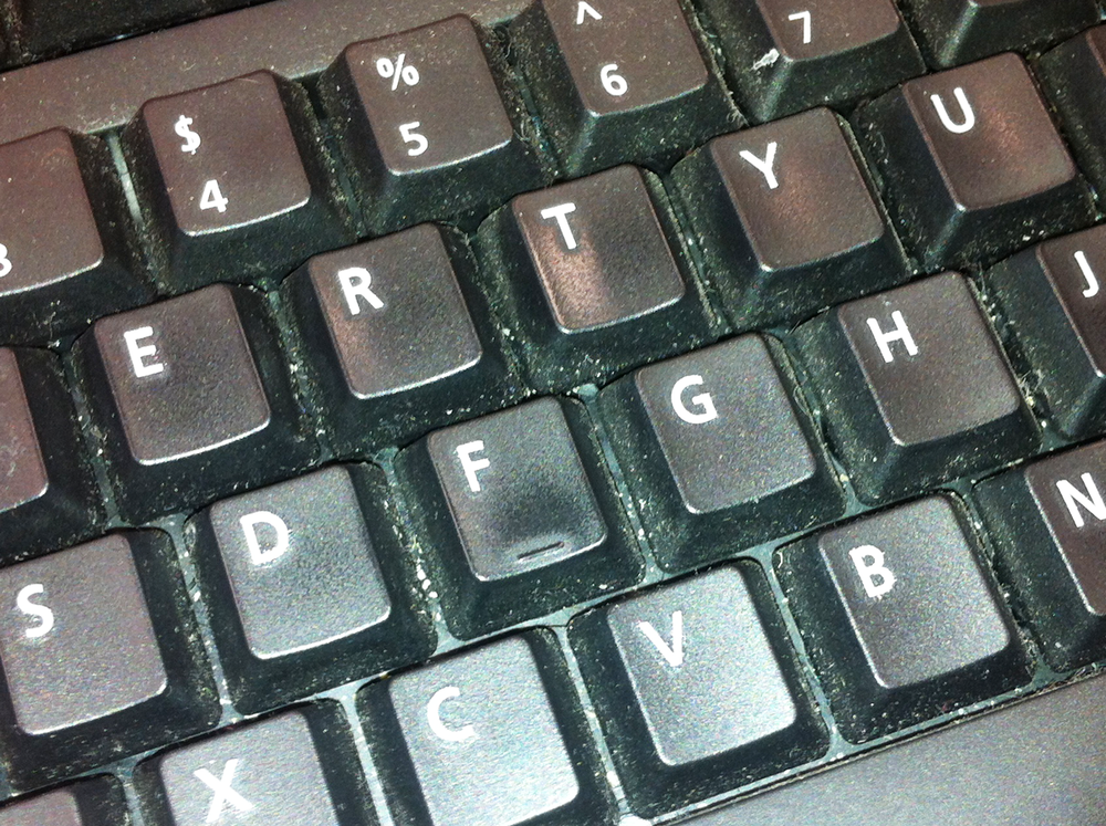 This keyboard is rapidly approaching health hazard status.