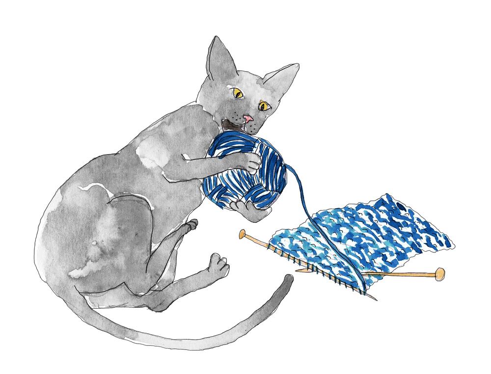 cat knitting thinner line.jpg