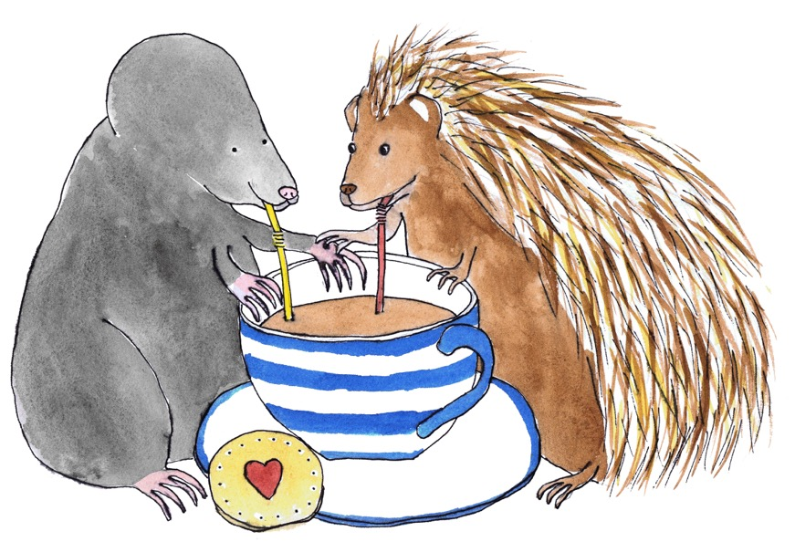 Mole and hedgehog sharing Tea .jpeg