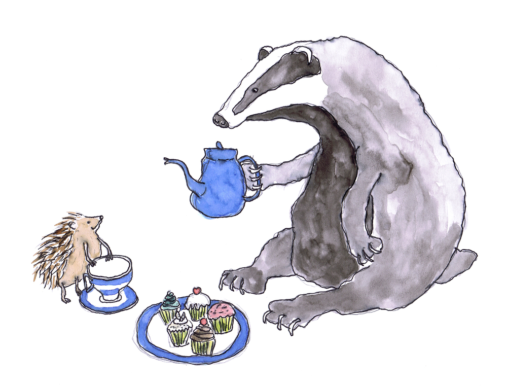 badger having tea hedgehog.jpg