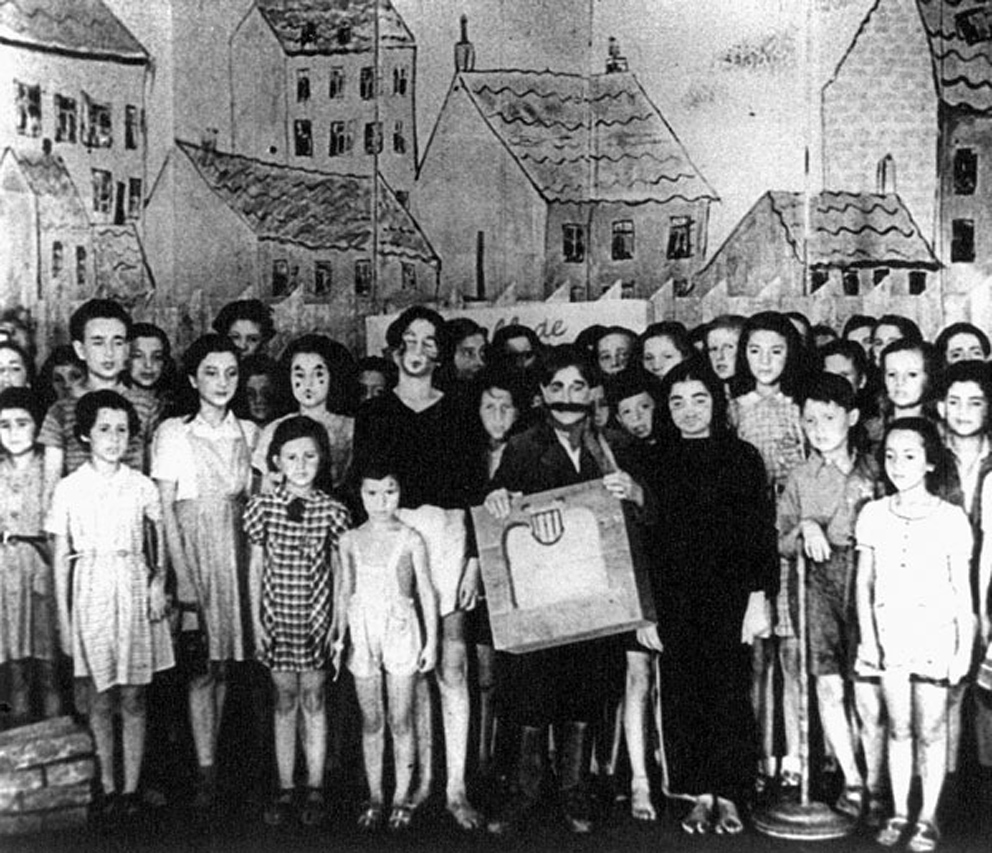 The original cast of Brundibár at Theriesenstadt Concentration Camp circa 1944