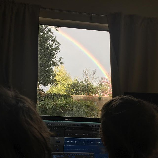 Rainbow. Through the window