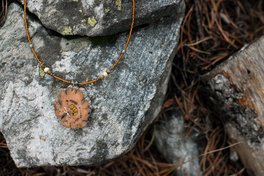 Bristlecone Pendant with Lichen
