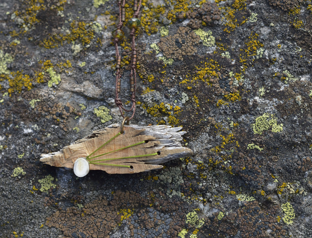 Bristlecone and Antler Limeburst Necklace